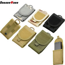 Army Camo Tactical Mobile Cell Phone Case Bag Belt Loop Hook Pouch Holster 1000D