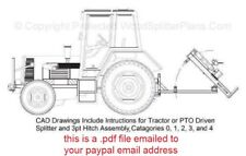 3-Point Hitch Tractor Vertical Wood-Log Splitter Plans, 3pt 20 - 50 Ton Models