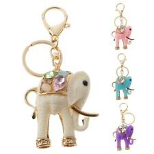 Resin Elephant Key Chain Ring Car Keychain Keyring Purse Bag Charm Pendant
