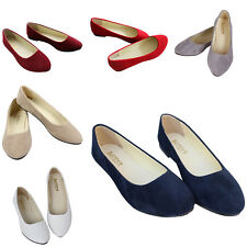 Casual Women Lady Suede Boat Shoes Slip On Flats Shoes Loafers Ballet Shoes