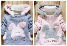 Kids Baby Girls Outerwear Hooded Coats Winter Jacket Children Warm Clothes