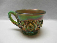 Northwood Green Memphis Pattern Carnival Glass Cup