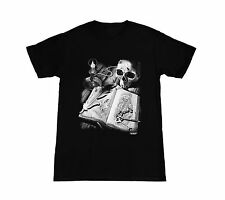 NEW Grim Reaper Black Widow Skull Gothic Journal Mens Black t shirt SM - 2XL AOC