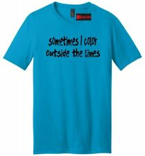 I Color Outside The Lines Funny Mens V-Neck T Shirt Motivational Cute Gift Tee