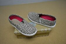 New in Box Toms Girl's Toddler Classic Metallic Leopard Slip On Flats