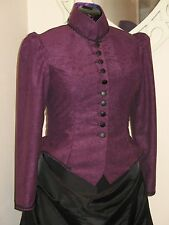 LADIES VICTORIAN / STEAMPUNK BUSTLE SKIRT OUTFIT / COSTUME (BLACK & PURPLE)