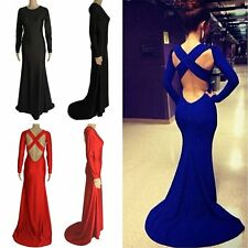 New Women Evening Long Dress Cocktail Formal Prom Lace Maxi Party Wedding Dress
