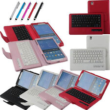 Wireless Bluetooth Tablets Leather Stand Buckle Keyboard Case For Samsung Galaxy