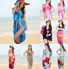 Chic Women Sarong Chiffon Beach Coverup Swimwear Bikini Scarf Dress Swimsuit Top