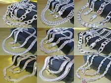 Curb Chain Necklace Snake Chain King's Chain Figaro Chain Silver Plated