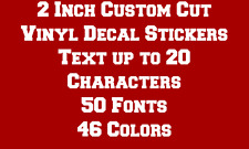 "2"" CUSTOM TEXT Vinyl Decal Sticker Car Truck Laptop Window Wall Boat Window"