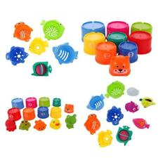 Kids Baby Children Figures Numbers Animal Folding Cups Stacking Bathing Toys
