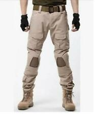 Hot Sale Mens Army Knee Pad Military Biker Trousers Camo Combat Overall Pants SZ