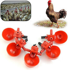 1/5Pcs Poultry Feed Automatic Water Drinking Cups Bird Chicken Fowl Drinker Tool