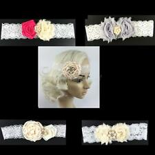 Girls Beauty Flower Lace Pearls Headband Hair Band Party Hair Jewelry