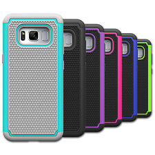 For Samsung Galaxy S8 Plus - Hard&Soft Silicone Hybrid Armor Defender Case Cover