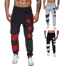 Mens Fashion Jogger Dance Sportwear Baggy Print Pants Trainning Trousers Casual