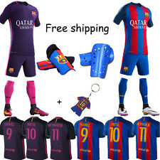 New Football Club Kit Short Sleeve Soccer For 2-13 Ys Kids Boys+Socks/Pad Custom