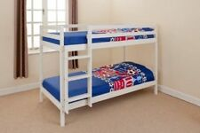 3FT SINGLE or SHORTY WHITE 2ft6 BUNK BED-SOLID PINE-BRAND NEW