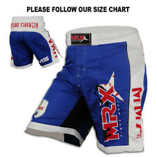 MMA Grappling Shorts Boxing Fight Short UFC Blood Cage Martial arts Blue/White
