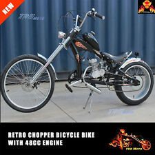Retro Chopper Lowrider Dragster Bicycle Push Bike W' Motorized 48cc Engine Kit