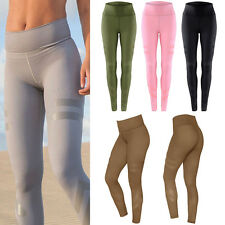 Womens Yoga Fitness Leggings Running Gym Workout Stretch Sports Pants Trousers
