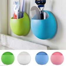 Storage Rack Toothpaste Organizer Wall Suction Cup Bathroom Toothbrush Holder
