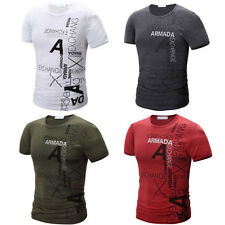 1PCS Slim T-Shirt New Casual 2017 Mens Cotton Hot Short Sleeve Fashion Sport