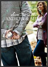 Personalized Save The Date Antique Wedding Cards with Your Photo Names & Date