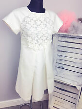 Paul and Joe Sister Lace Front 60s A-Line Dress in White RRP £235 (AS-40/7)