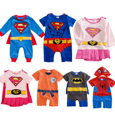 New Baby Boys Girls Superman Romper Jumpsuit Superhero Costume Outfit Sleepsuit