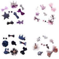 Lovely Baby Girl Hair Bow Mixed Design Toddler Hair Clips Set Baby Christening