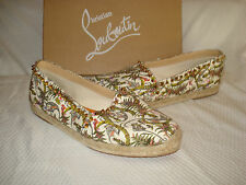 Christian Louboutin Ares Canvas Red Sole Jungle Espadrilles SZ 10 (40) $595