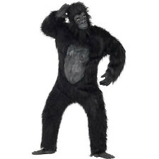 Adult Deluxe Gorilla Ape King Kong Mens Halloween Fancy Dress Costume 24230