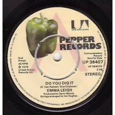 "EMMA LEIGH Do You Dig It 7"" VINYL UK Pepper 1978 Demo B/W Strong Love (Up36407)"