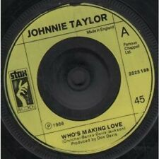 "JOHNNIE TAYLOR Who's Making Love 7"" VINYL UK Stax 1968 3 Track Plastic Label"