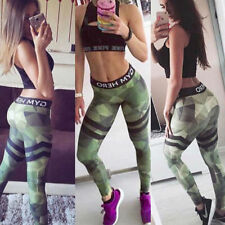 Womens YOGA Gym Workout Sports Leggings Running Fitness Pants Stretch Trouser