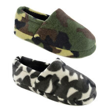 Kids Boys Camouflage Slipper Camo Slippers Size 9-3
