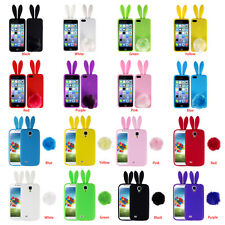 Dust-proof Cute Soft TPU Back Rabbit Ears Phone Case For Iphone Samsung