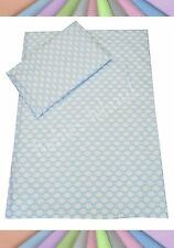 Bedding set cot/cot bed/Toddler/ Single bed 100% cotton Blue Clouds