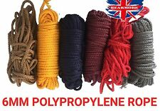 6MM POLYPROPYLENE NYLON STRING ROPE. GARDENING ROOFING TRAILER ROPE SASH