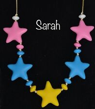 SARAH Star Teething Necklace Autism Sensory Chewing Baby Shower Chewelry