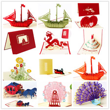Various 3D Pop Up Invitation Greeting Card Valentine Anniversary Birthday Favors