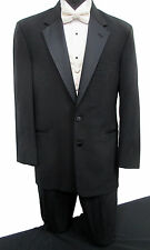 Black Perry Ellis Tuxedo with Pants Vest & Bow Tie Wedding Prom Mason Cruise
