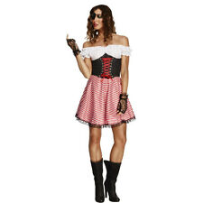 Womens Fever Pirate Laced Up Ladies Sexy Fancy Dress Costume Outfit 30479