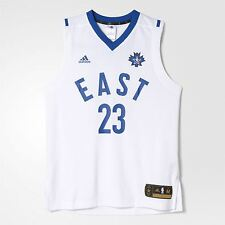 adidas MENS LEBRON JAMES REPLICA JERSEY ALL STARS EAST WHITE CLEVELAND CAVALIERS