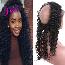 Pre Plucked 360 Lace Frontal Deep Wave 360 Lace Frontal Closure Natural Hairline