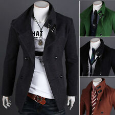 2017 Spring Men's Trench Coat Winter Long Jackets Double Breasted Overcoat