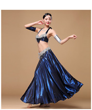 C176 Belly Dance Costume Outfit 4 PCS Set Carnival Bollywood Bra Skirt+2armbands