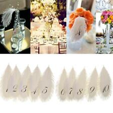 1-10 Table Numbers Cards Feather Wedding Flower Arrangement Table Centerpieces